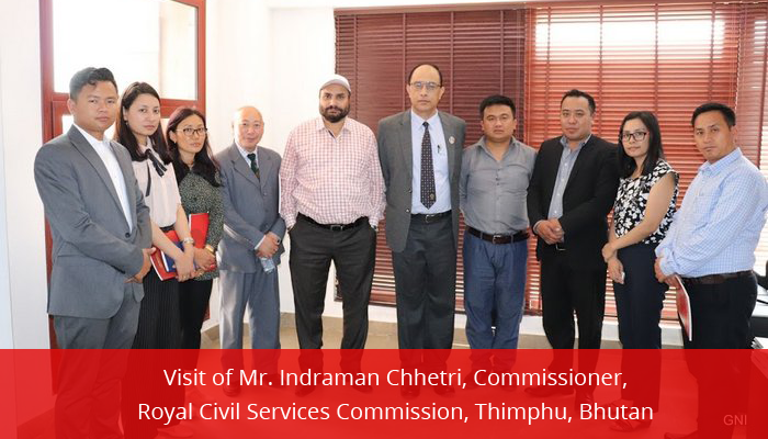 GNI Managing Director Dr. H. S. Saini along  with Mr. Indraman Chhetri, Commissioner, Royal Civil Services Commission,  Thimphu, Bhutan and his team