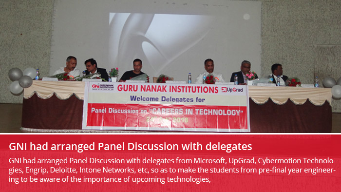 GNI had arranged Panel Discussion with delegates