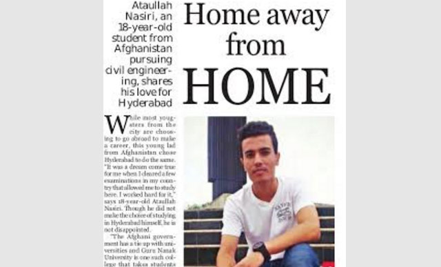 Home Away From Home - An 18 year old Afgan student's love for Hyderabad